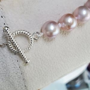 Jewelry - 👑PRECIOUS 925 TOGGLE CULTURED FW PINK PEARLS